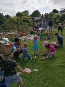 Storytellling tea time in the garden